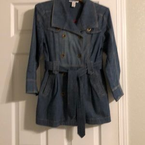 Jean short trench jacket